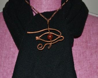 Eye of Horus with jasper iris