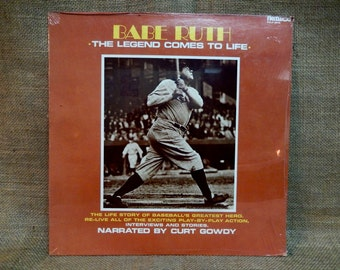 SEALed...Babe Ruth - The Legend Comes to Life - Vintage Vinyl Record Album