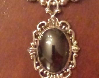 Sterling Silver and Hematite Necklace. ..FREE SHIPPING