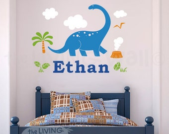 Dinosaur Name Etsy - Custom vinyl wall decals dinosaur