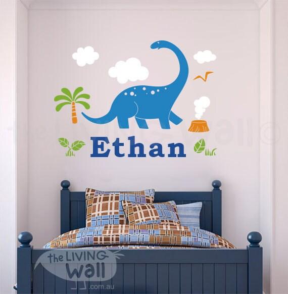 Dinosaur Name Decal Nursery Decor Custom Personalized Name - Custom vinyl wall decals dinosaur