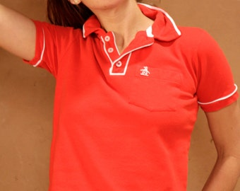 red PENGUIN vintage POLO small classic oxford sporty shirt
