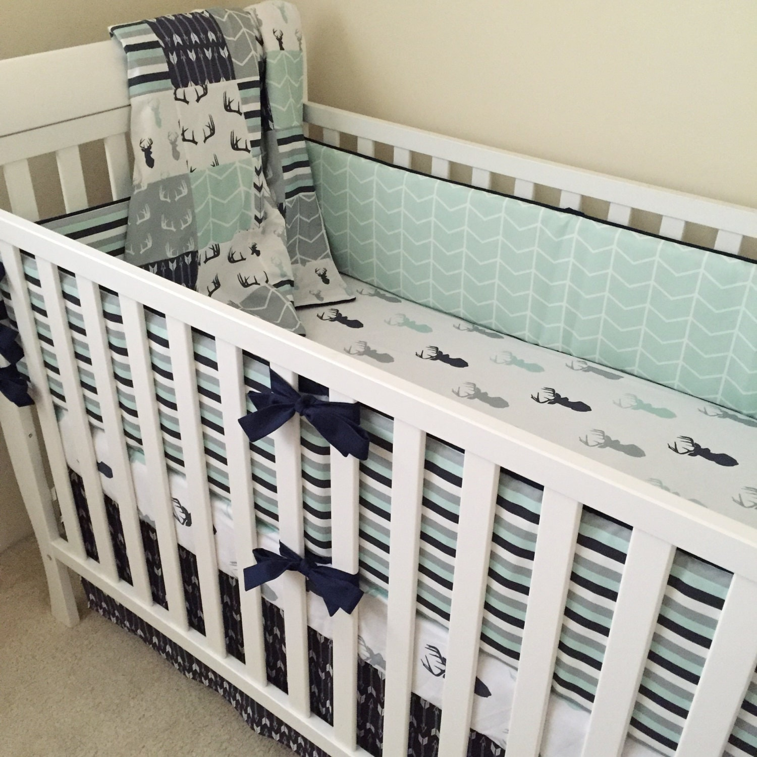 Deer Crib Bedding Boy Crib Bedding Woodland Baby Bedding