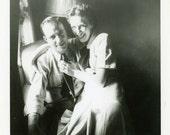 "Vintage Photo ""Honeymoon Smiles"" Snapshot Photo Old Antique Photo Black & White Photograph Found Paper Ephemera Vernacular - 28"