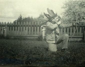 "Vintage Photo ""Imagination"" Snapshot Photo Old Antique Photo Black & White Photograph Found Photo Paper Ephemera Vernacular"