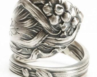 Daffodil Ring, Sterling Silver Spoon Ring, Garden Ring, Daffodil Jewelry, Wedding Ring Alternative, Narcissus Flower, Custom Ring Size, 6020