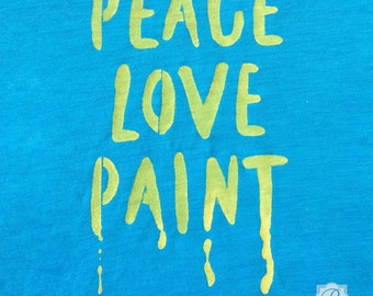 Peace, Love, Paint Lettering Stencil - DIY Projects with Typography, Wall Quote, Script