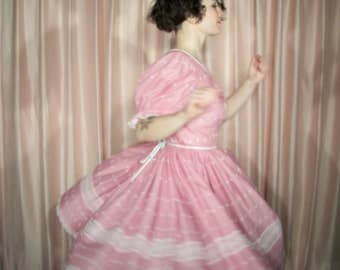 Pink Eyelet Party Dress, 60s