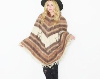 Vintage 70s Alpaca Wool Poncho