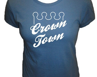 Crown Town Kansas City Baseball Womens Shirt - KC Fan - Cute Organic T Shirt - 4 Colors - Organic Bamboo / Cotton Tee Shirt - Gift Friendly