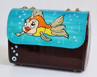 Cleo the Goldfish Handbag or Shoulder Bag, Vintage and Upcycled