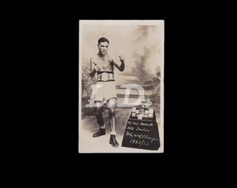 Very Rare photo of Tattooed Boxer // 1920s // India // British Raj