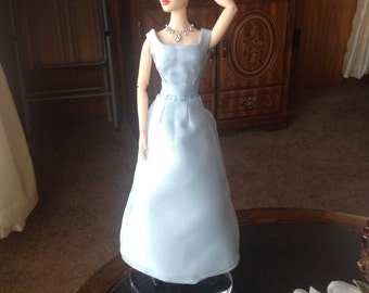 Blue Satin Gown for Tonner Dolls 15-16 inch