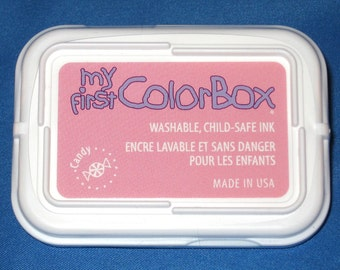 Candy Pink Childs Ink Pad My First Color Box Washable Childrens Ink Light Pink Stamp Pad Nontoxic Ink Pad Childsafe Ink Kids Crafts