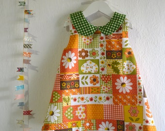 Peter Pan Collar Dress - Spring and Summer Toddler Dress - Dress for little girls