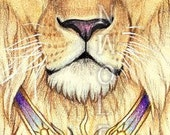 Sun Lion Print