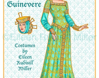 Queen Guinevere Paper Doll