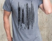 Bigfoot in the Forest - Men's Graphic T-Shirt - American Apparel TriBlend T-Shirt - All Sizes Available