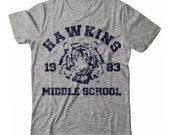 Stranger Things Hawkins Middle School Tigers Phys. Ed. UNISEX T-shirt