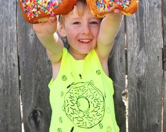 Donuts Neon Cotton Kids Tank Top - SALE