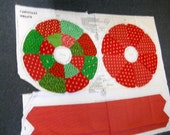 Cranston Print Works Christmas Wreath - Sewing Fabric Panel