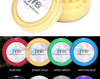 Nabi Temporary Hair Color Gel Wax Mud Washable 75g Dry Non-stick Sunny Gold
