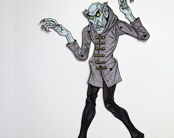 Nosferatu Count Orlok Vampire Articulated Paper Doll