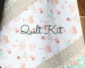 Girl Baby Quilt Kit Moxi Studio M Moda Fabrics Shabby Chic : baby quilting kits - Adamdwight.com