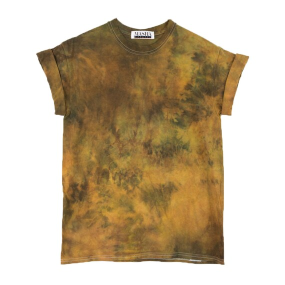 Rust tie dye t shirt psychedelic festival mens shirt for Tie dye mens t shirts
