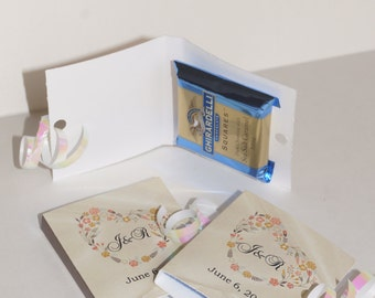 Wedding favors, Ghirardelli favors, Ghirardelli wedding favors, favors book, wedding favor books, chocolate favors, unique favors, set of 25