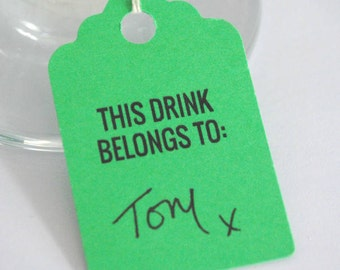 Pack of 10 Drinks tags