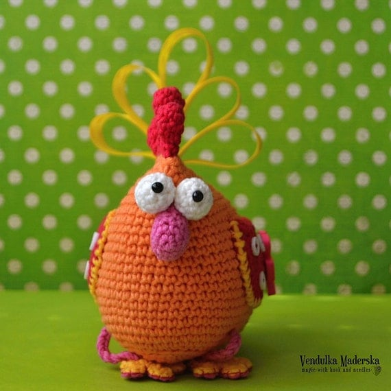 Crochet pattern - Easter hen by VendulkaM, amigurumi, crochet toy/digital pattern, DIY, pdf