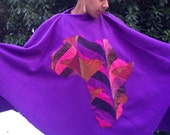 Purple Africa Poncho