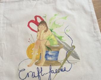 Craft Faerie Canvas tote bag