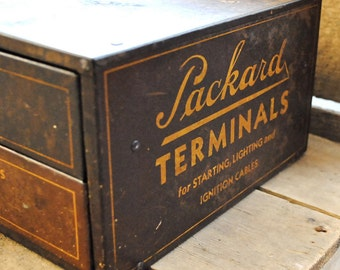 Vintage Original 1930s Packard Dealer Advertising Case Display Rare Automotive - Free Shipping