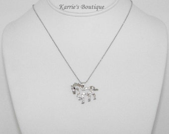 Rhinestone Horse Necklace / Cowgirl / Western / Rodeo / Cowgirl Princess / Photo Prop/ Birthday/ Pageant/ Toddler/ Girl / Adult