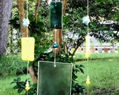 Forget Me Not Fused Glass Wind Chime