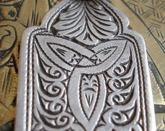 Silver  Moroccan small hand engraved pendant
