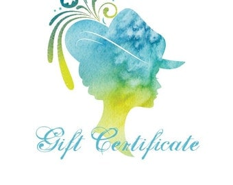 Gift Certificate For Chef Bizzaro Millinery