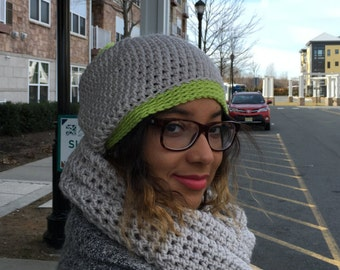 Crochet Unisex Neck Warmer - LINEN