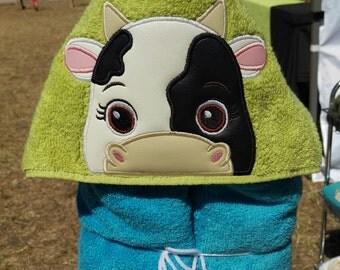 Cow Hooded Bath Towel