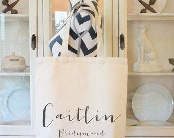Tote bags,Wedding Bags,Bridemsaids Bags, Maid of Honor and Bride, Custom Bridesmaid Tote Bags