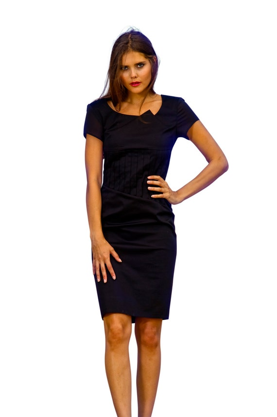 Black Pencil Dress Wiggle Dress Little Black Dress Cocktail