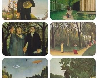 Henri Rousseau. Set of 6 Postcards -- 1970s-1980s. Condition 9/10