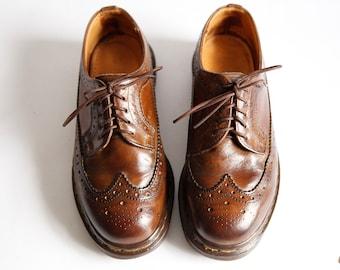 Vintage Dr Marten Shoes Lace Up Wingtip Oxfords size 5 UK Womens size 7 Mens size 5.5