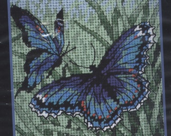 Butterfly Duo Needlepoint Kit - NEW & UNOPENED