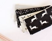 Zipper Pouch, Pencil Pouch, Pencil Case, Black and White, College, Kids, School Supplies, Teens, Women, Organize