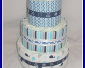 Baby Boy Diaper Cake-Incredible Nautical Themed -Gorgeous Centerpiece