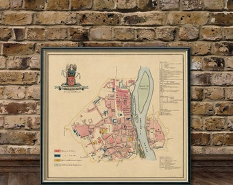 Maastricht map - Old map of Maastricht - Fine archival reproduction