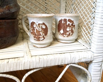 Vintage Sun Valley Idaho Ceramic Coffee Mugs - Set of Two - 1975